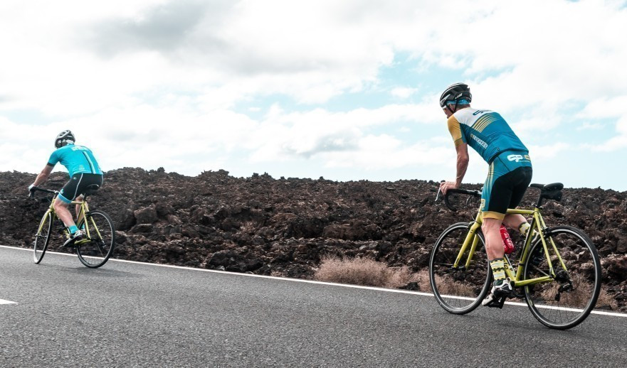 Cycling on Lanzarote with Johan Vansummeren